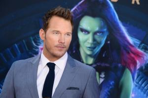 Gamora in the back?  My look for hubby Chris Pratt