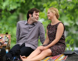NEW YORK, NY - JUNE 26:  Bill Hader and Amy Schumer on the set of