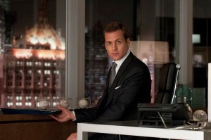 "SUITS -- ""She Knows"" Episode 201 -- Pictured: Gabriel Macht as Harvey Specter -- (Photo by: Christos Kalohoridis/USA Network)"